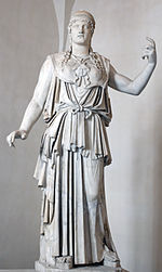 This marble Greek copy signed ANTIOCHOS is a first century BC copy of Phidias' fifth-century original that stood on the Acropolis