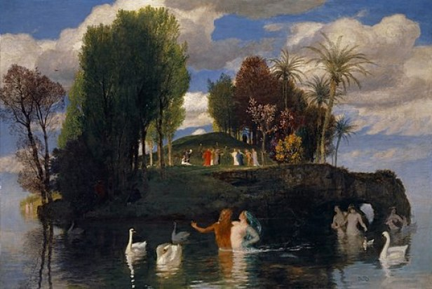 """Isle of Life"" by Arnold Böcklin"