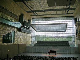 Vista interior do auditório da Casa da Música.