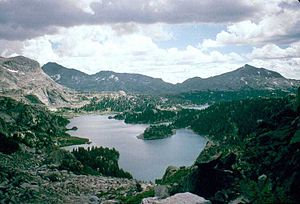 Cook Lake in the Bridger Wilderness, Bridger-T...