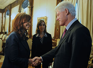 Argentine President Cristina Fernandez with Bi...