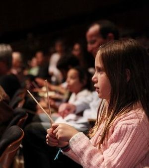 Middle school students at a KeyNote Concert he...
