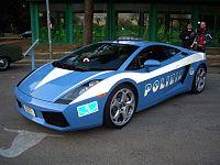 Lamborghini Gallardo de la polizia stradale.