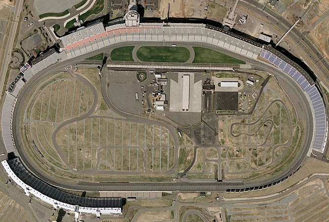Charlotte Motor Speedway, a quad-oval, with it...