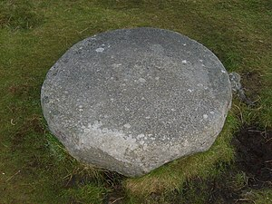 English: One of the round stones