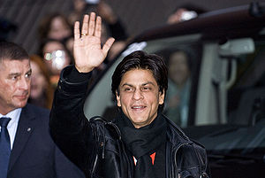 English: Indian actor Shahrukh Khan, arrival f...