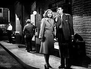 English: Lizabeth Scott & Van Heflin in The St...