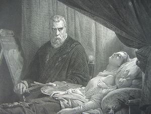 Tintoretto am totenbett seiner tochter