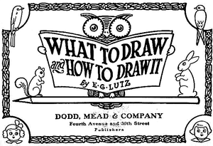 English: Illustrations from What to draw and h...