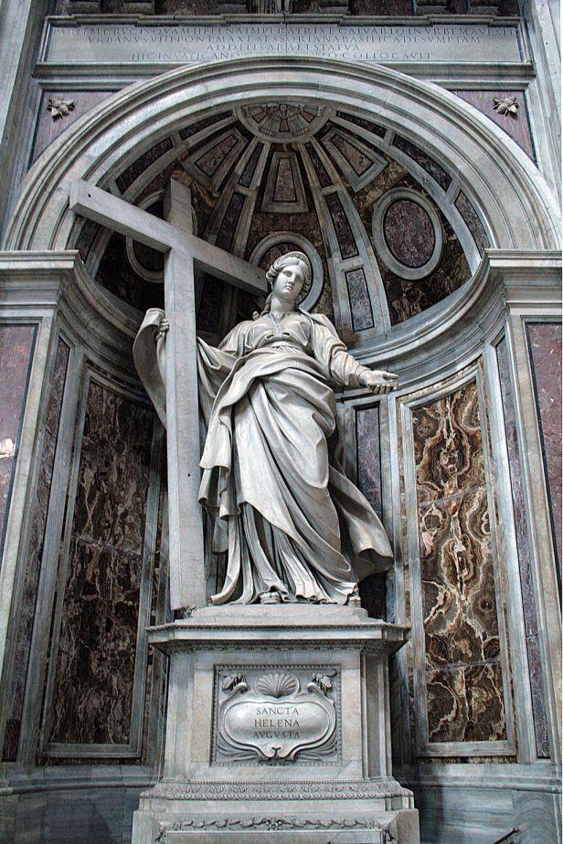 0 Statue de Sainte Hélène par Andrea Bolgi - Basilique St-Pierre - Vatican