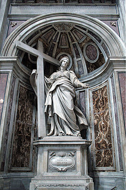 Statue of Saint Helena by Andrea Bolgi