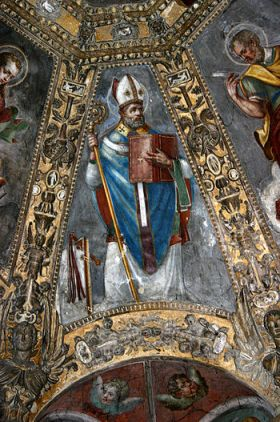 Saint Ambrose as a Doctor of the Church. Detai...