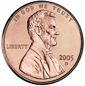 Lincoln on U.S. one cent