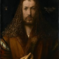"""Self-Portrait at Twenty-Eight"" by Albrecht Dürer"