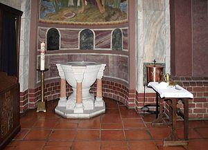 Deutsch: Berlin, Rosenkranz-Basilika, Taufkapelle
