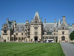 Front facade of Biltmore Estate, Asheville, No...