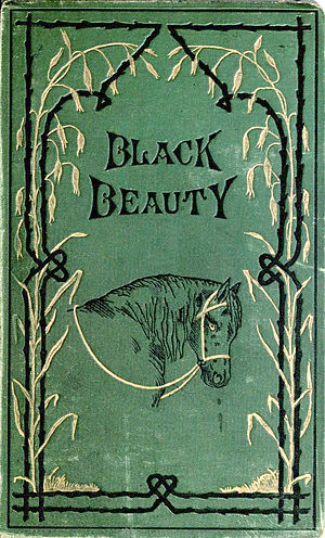 English: Cover of the novel Black Beauty, firs...