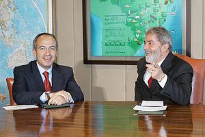 Felipe Calderón, president-elect of Mexico (le...