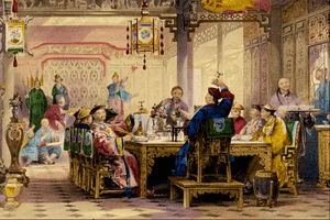 Dinner Party at a Mandarin's House - Thomas Allom
