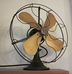 GE electric fan from early 20th century.