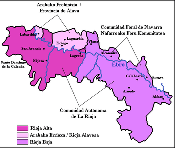 The three principal regions of the Rioja are t...