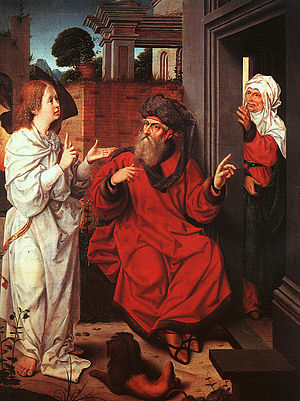 Jan Provoost - Abraham, Sarah, and the Angel -...