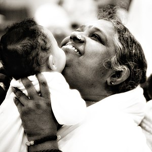 English: Mata Amritanandamayi.