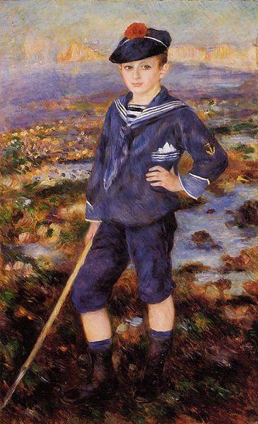 File:Pierre Auguste Renoir Jeune garcon sur la plage d Yport.jpg