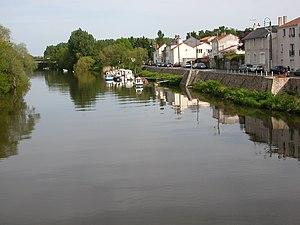 The banks of the Sèvre Nantaise in Rezé
