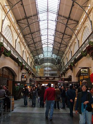 Interior of the Ferry Building in San Francisc...
