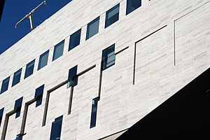 English: Detail of the Juilliard School extension.