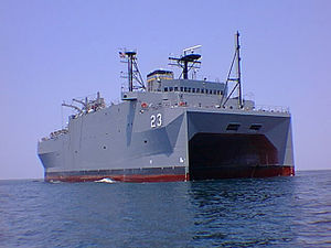 English: USNS Impeccable (T-AGOS-23) is one of...