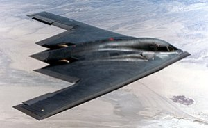 Side view of a B-2 Spirit.