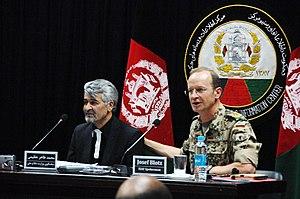 KABUL, Afghanistan - German Army Brig. Gen. Jo...