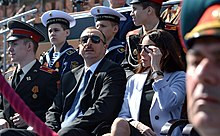 Ilham Aliyev with his first lady during the Moscow Victory Day Parade, 9 May 2015