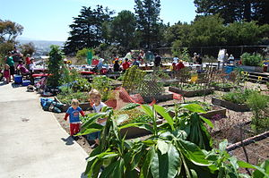 slow food eat-in at Brooks Park in San Francisco.