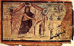 Achilles sacrificing to Zeus, from the Ambrosian Iliad, a 5th century illuminated manuscript.