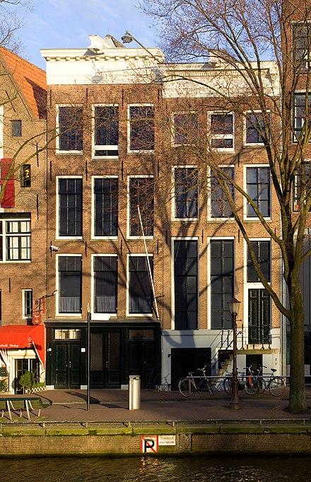 Prinsengracht 263, onde se escondeu Hermann van Pels na parte posterior da casa