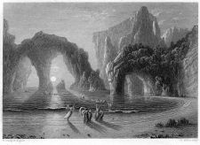 Fairies on the Seashore engraving by William Miller after F Danby
