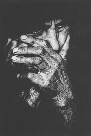 """Hands of mother"" (1968)."