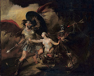 English painter from the 1700s depicts Satan a...