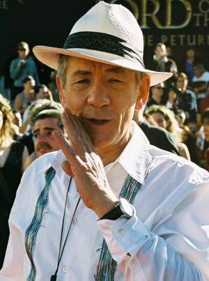 Deutsch: Ian McKellen bei der Weltpremiere des...