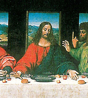 copy of Leonardo da Vinci's Last supper by an ...