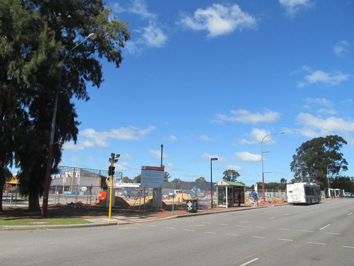 Kwinana bus station construction 2012-08