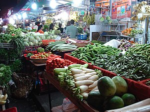 Vegetables in a market in Singapore's Little I...
