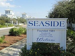 English: Entrance sign to Seaside, Florida