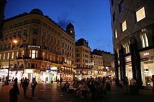 English: Stephansplatz and Graben street in th...