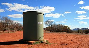 Water tank in the West MacDonnell Ranges in No...
