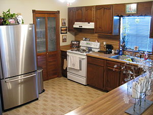 Kitchen, house in Gretna, Louisiana