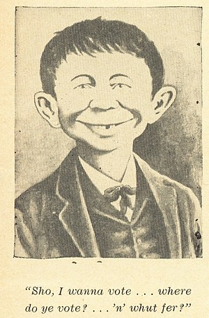 English: Pictography of Alfred E. Neuman used ...